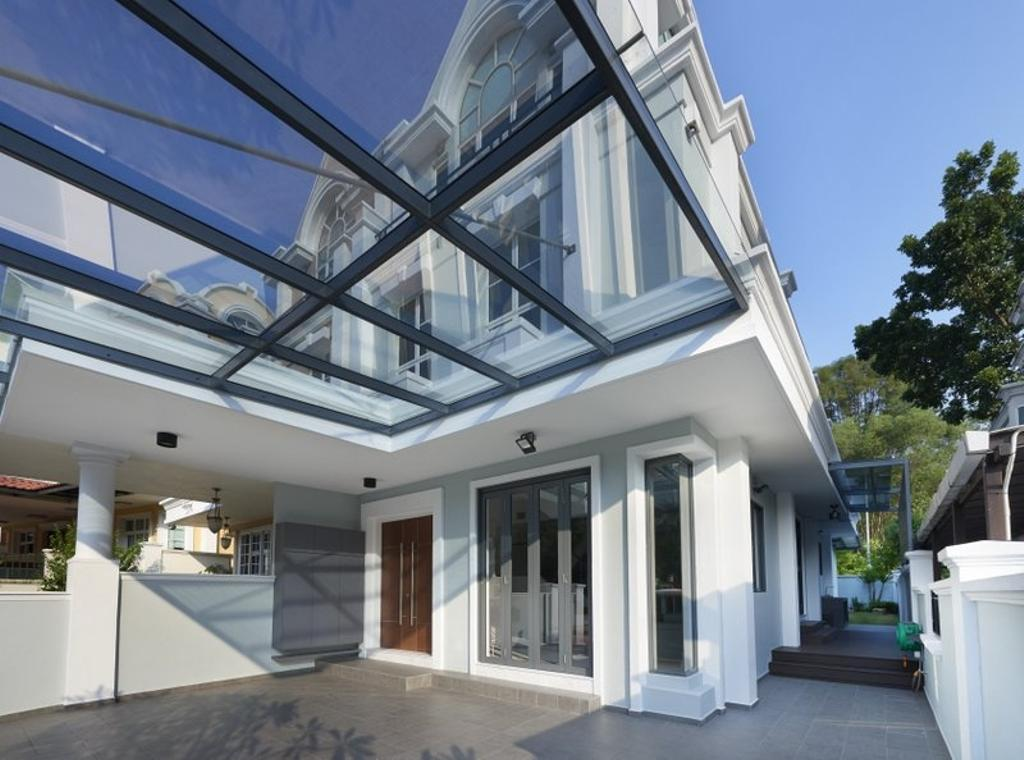 Minimalistic, Landed, Burgundy (Bukit Batok), Interior Designer, Spire Id, Exterior, House Exterior, Building, House, Housing, Villa
