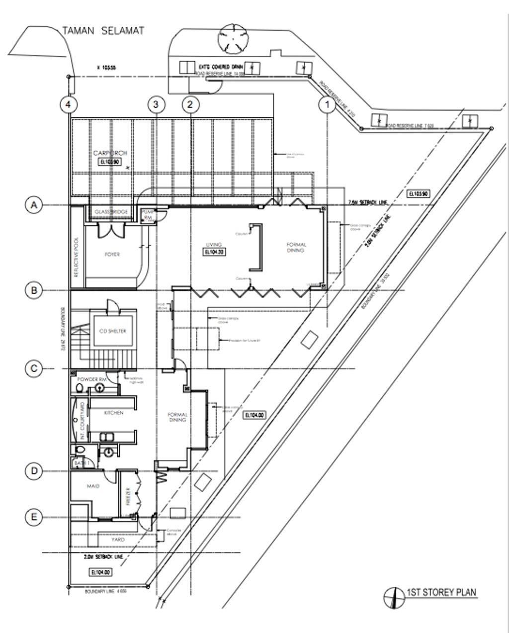 Traditional, Landed, Taman Selamat, Architect, AgFacadesign Architects, Floor Plan, Diagram, Plan