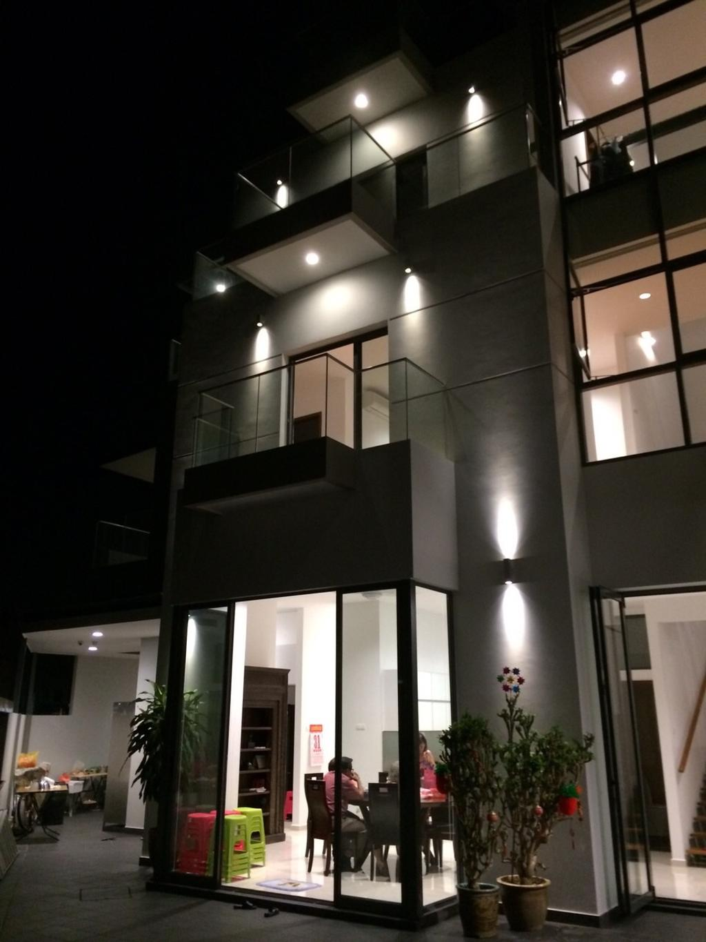 Traditional, Landed, Taman Selamat, Architect, AgFacadesign Architects, Lighting, Door, Sliding Door, Banister, Handrail