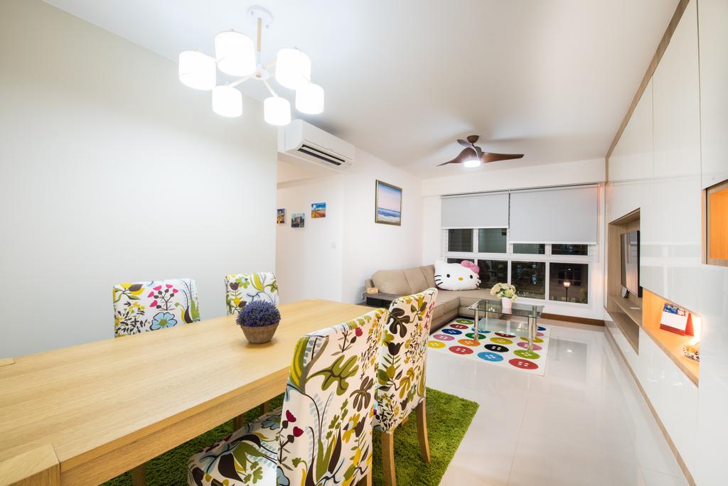 Modern, HDB, Sengkang East (Block 281B), Interior Designer, Glamour Concept, Scandinavian, Dining Room, Indoors, Interior Design, Room