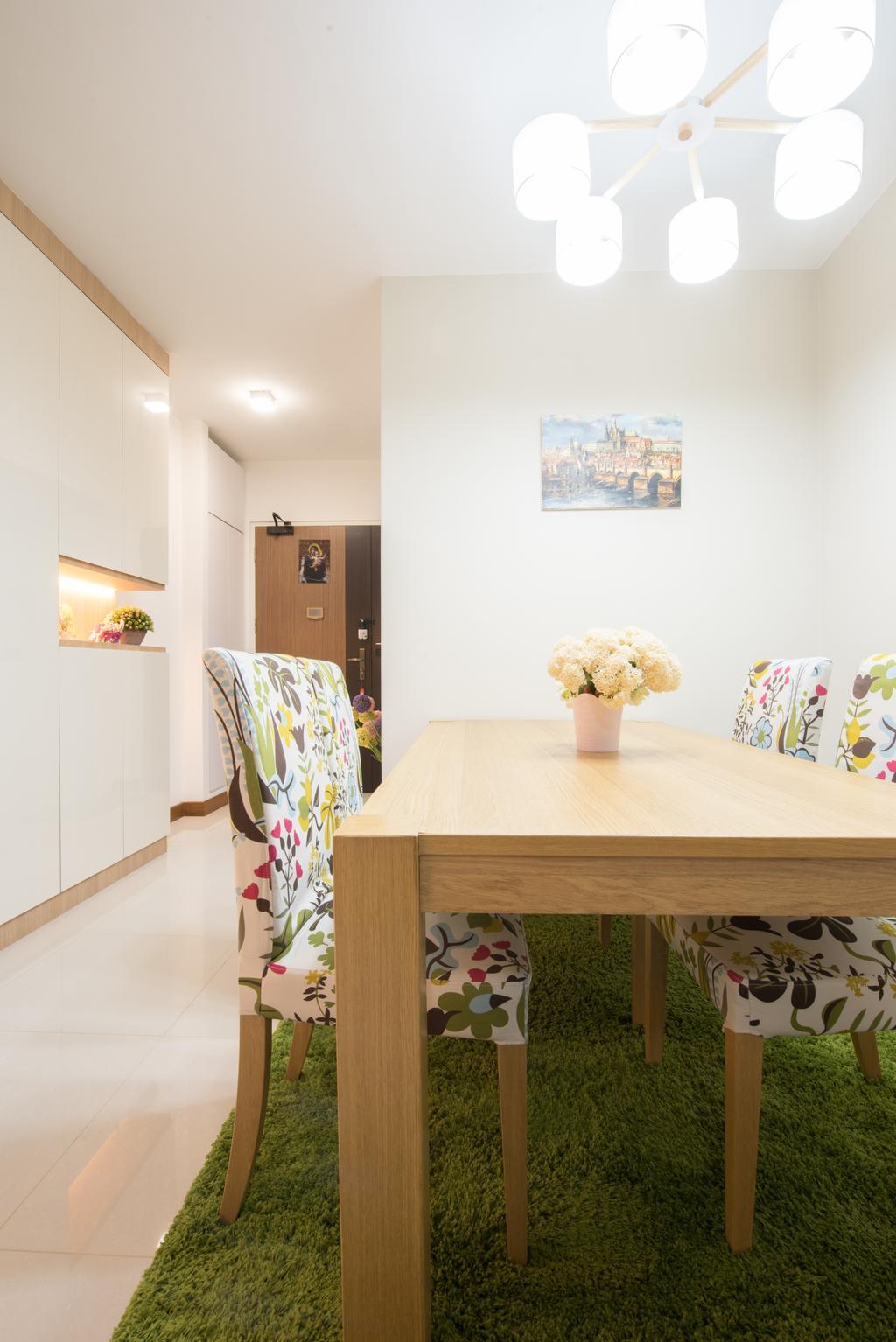 Modern, HDB, Dining Room, Sengkang East (Block 281B), Interior Designer, Glamour Concept, Scandinavian, Indoors, Interior Design, Room