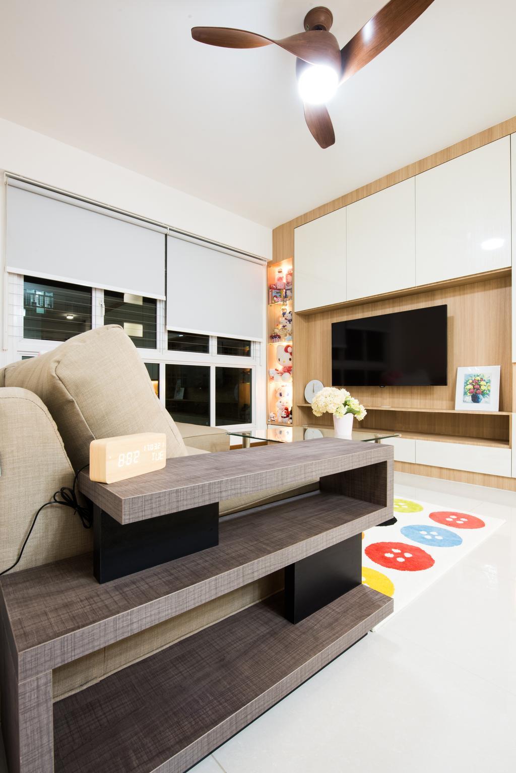 Modern, HDB, Living Room, Sengkang East (Block 281B), Interior Designer, Glamour Concept, Scandinavian, Couch, Furniture, Indoors, Interior Design