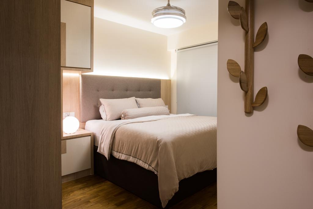 Modern, HDB, Bedroom, Sengkang East (Block 281B), Interior Designer, Glamour Concept, Scandinavian, Light Fixture, Indoors, Room