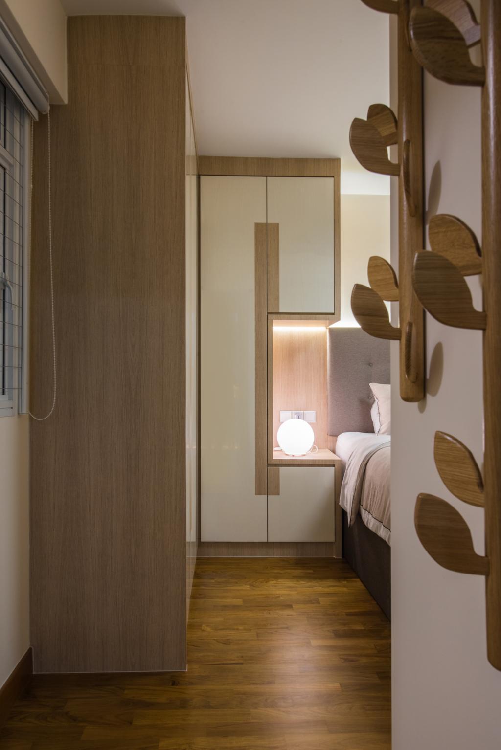 Modern, HDB, Bedroom, Sengkang East (Block 281B), Interior Designer, Glamour Concept, Scandinavian, Plywood, Wood, Home Decor, Linen, Chair, Furniture, Indoors, Interior Design