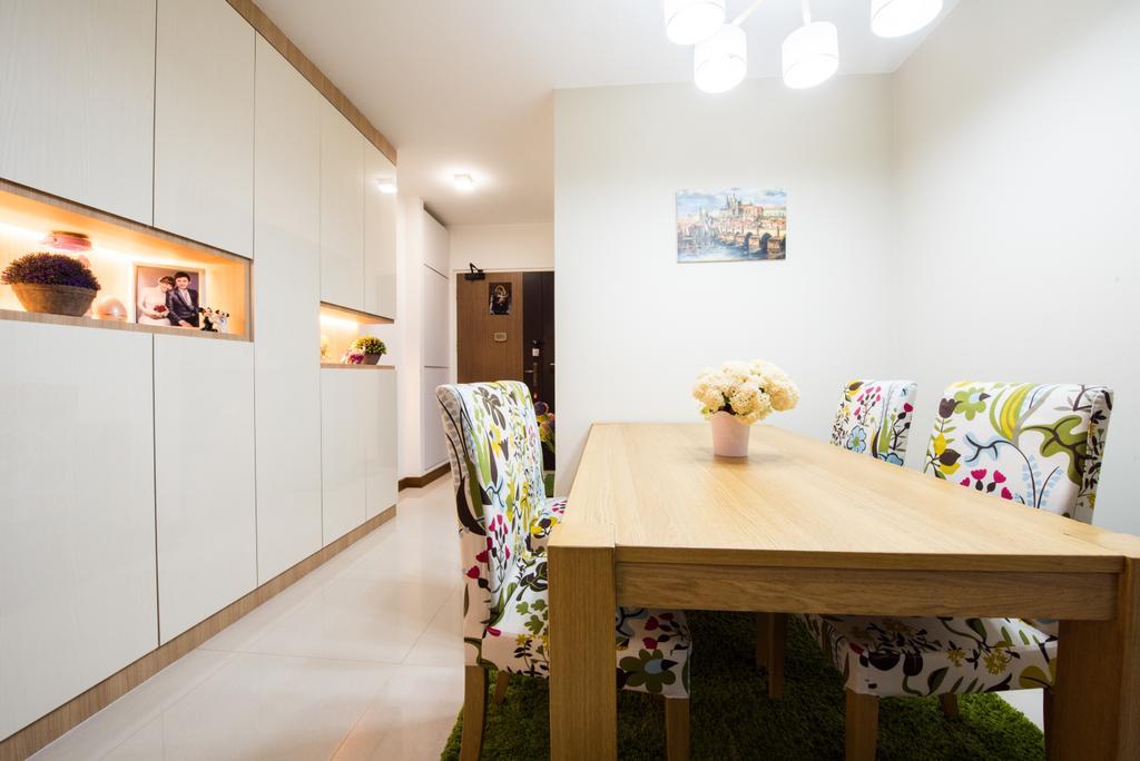 Modern, HDB, Dining Room, Sengkang East (Block 281B), Interior Designer, Glamour Concept, Scandinavian, Dining Table, Furniture, Table, Indoors, Interior Design, Room