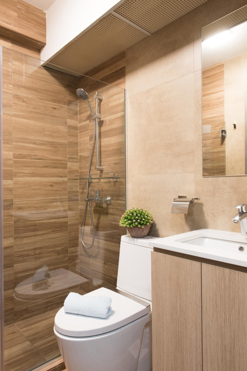 Modern, HDB, Bathroom, Sengkang East (Block 281B), Interior Designer, Glamour Concept, Scandinavian, Indoors, Interior Design, Room