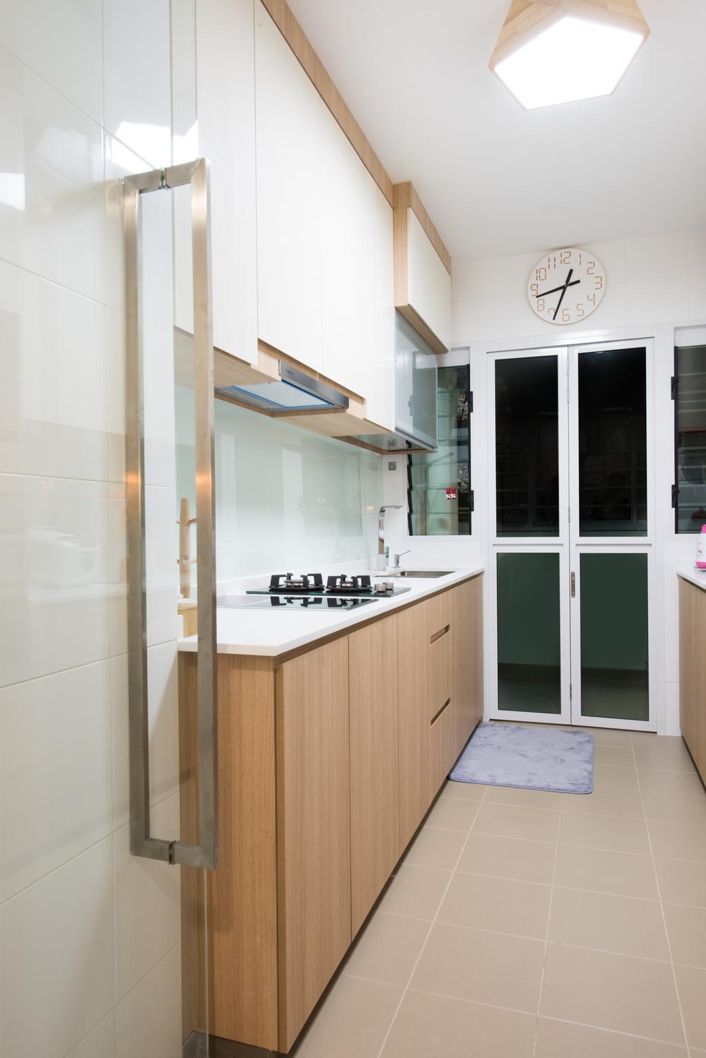Modern, HDB, Kitchen, Sengkang East (Block 281B), Interior Designer, Glamour Concept, Scandinavian