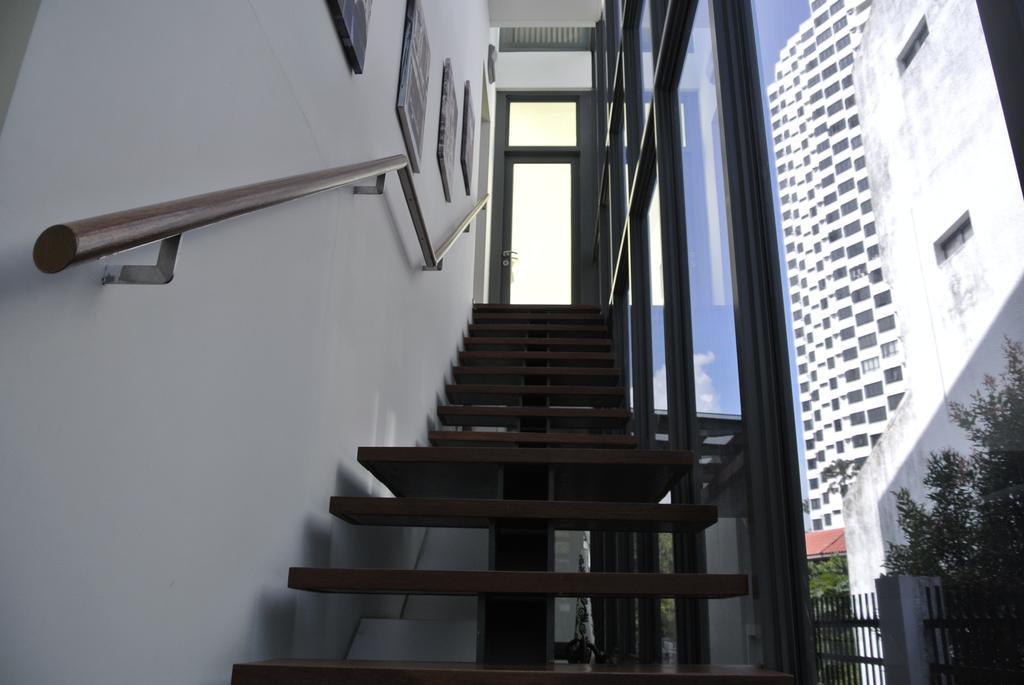 Modern, Landed, Island Garden Walk, Architect, AgFacadesign Architects, Banister, Handrail, Staircase, Bookcase, Furniture, Urban