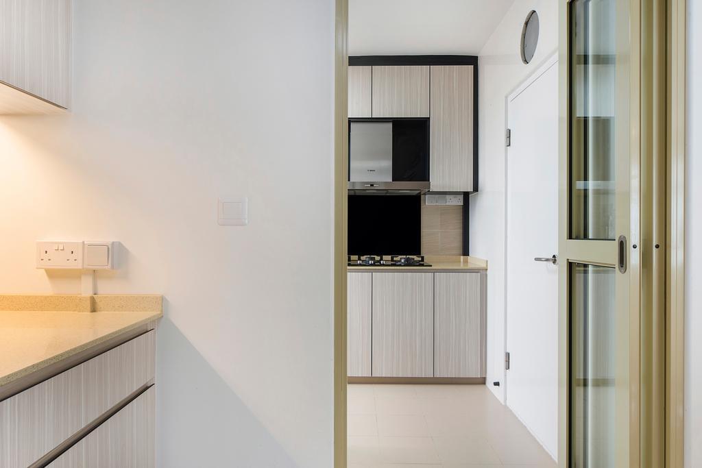 Modern, HDB, Kitchen, Upper Serangoon Road, Interior Designer, Cozy Ideas Interior Design, Appliance, Electrical Device, Oven