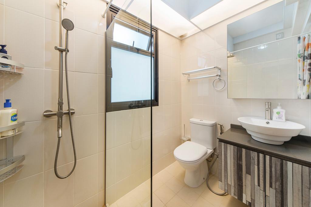 Modern, HDB, Bathroom, Upper Serangoon Road, Interior Designer, Cozy Ideas Interior Design, Shower, Indoors, Interior Design, Room