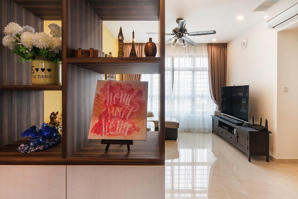 Modern, HDB, Living Room, Upper Serangoon Road, Interior Designer, Cozy Ideas Interior Design, Flora, Jar, Plant, Potted Plant, Pottery, Vase, Dining Room, Indoors, Interior Design, Room
