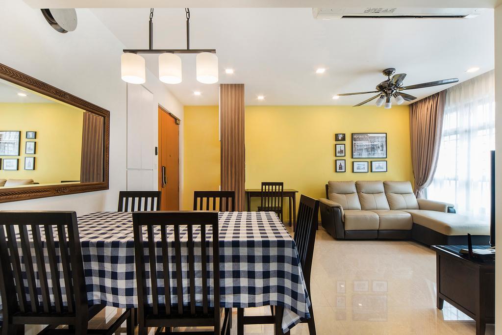 Modern, HDB, Dining Room, Upper Serangoon Road, Interior Designer, Cozy Ideas Interior Design, Indoors, Room, Chair, Furniture, Interior Design, Living Room