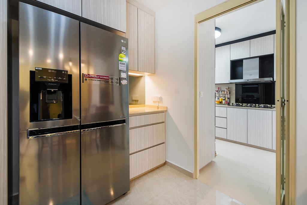 Modern, HDB, Kitchen, Upper Serangoon Road, Interior Designer, Cozy Ideas Interior Design, Electronics, Entertainment Center