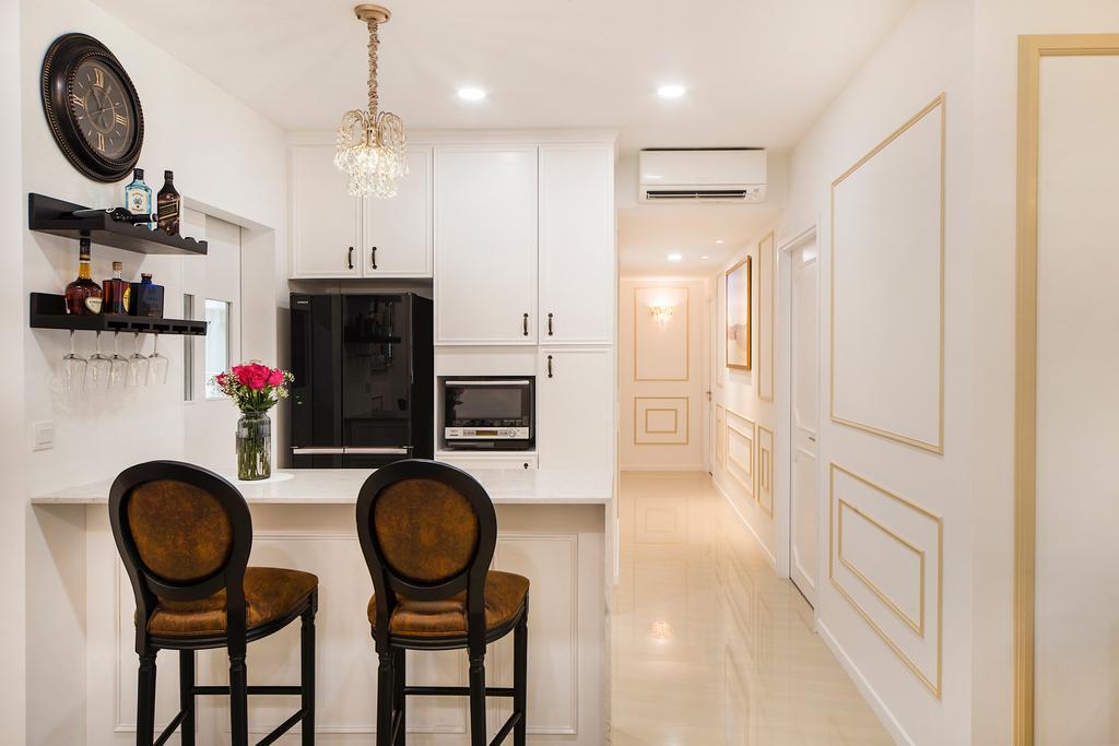 Vintage, Condo, Kitchen, Sea Horizon (Block 3), Interior Designer, Cozy Ideas Interior Design, Chair, Furniture, Bar Stool, Dining Room, Indoors, Interior Design, Room
