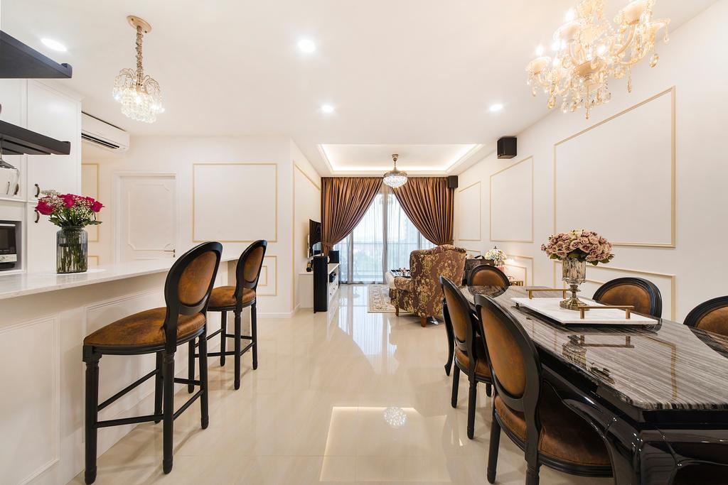 Vintage, Condo, Dining Room, Sea Horizon (Block 3), Interior Designer, Cozy Ideas Interior Design, Chair, Furniture, Indoors, Interior Design, Room