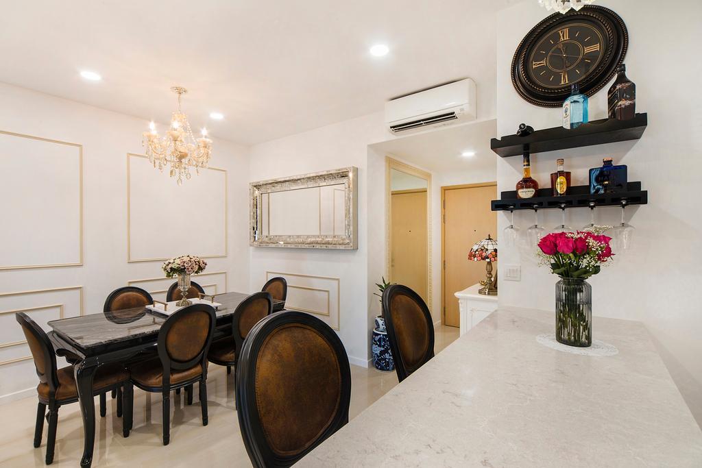 Vintage, Condo, Dining Room, Sea Horizon (Block 3), Interior Designer, Cozy Ideas Interior Design, Indoors, Interior Design, Room, Dining Table, Furniture, Table