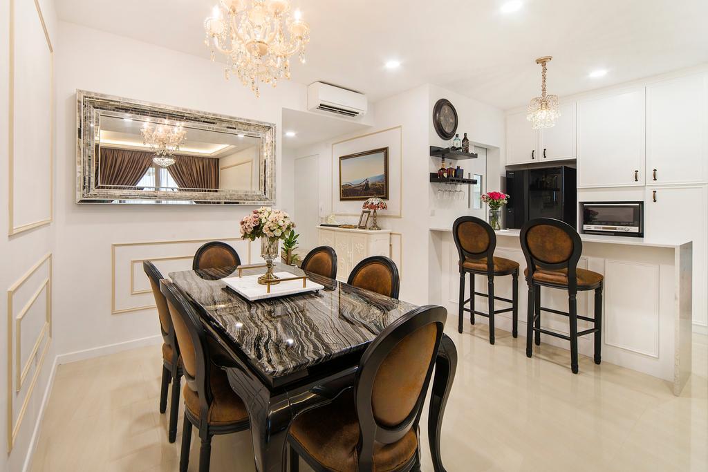 Vintage, Condo, Dining Room, Sea Horizon (Block 3), Interior Designer, Cozy Ideas Interior Design, Indoors, Interior Design, Room, Dining Table, Furniture, Table, Bar Stool