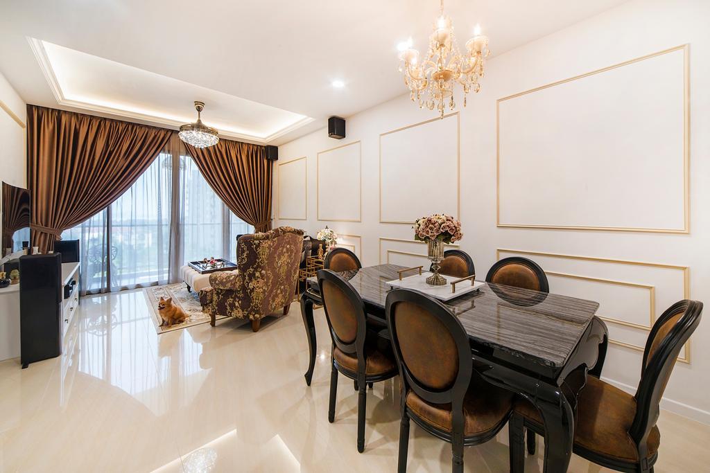 Vintage, Condo, Dining Room, Sea Horizon (Block 3), Interior Designer, Cozy Ideas Interior Design, Indoors, Interior Design, Room, Chair, Furniture, Couch, Dining Table, Table