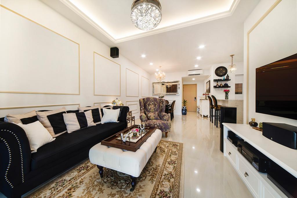 Vintage, Condo, Living Room, Sea Horizon (Block 3), Interior Designer, Cozy Ideas Interior Design, Couch, Furniture, Indoors, Interior Design, Room
