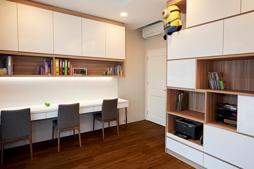 Modern, Condo, Study, Trellis Tower, Interior Designer, Weiken.com, Dining Table, Furniture, Table, Indoors, Interior Design, Coffee Table, Cabinet