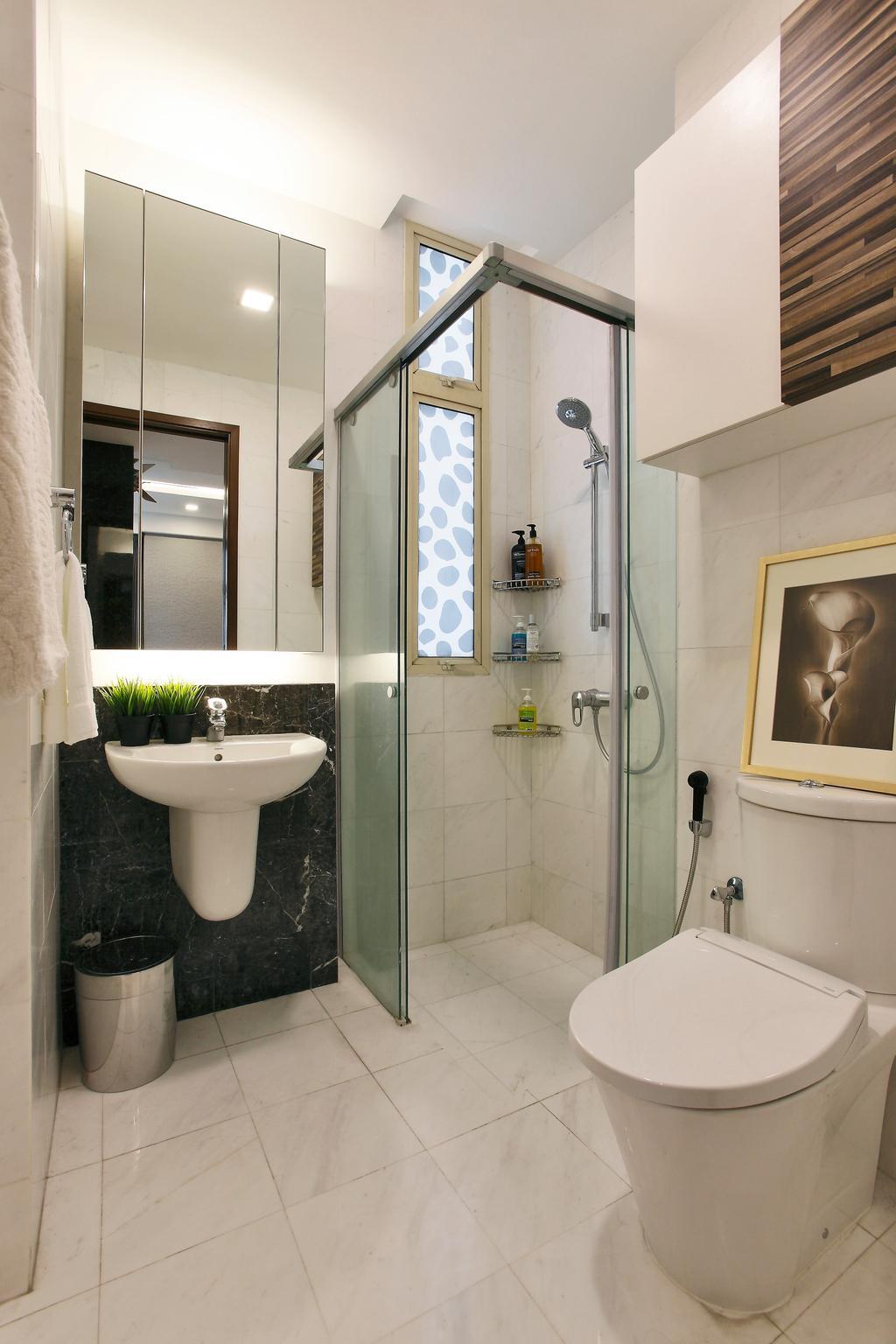 Contemporary, Condo, Bathroom, Balestier, Interior Designer, Habitat One, Torso, Indoors, Interior Design, Room