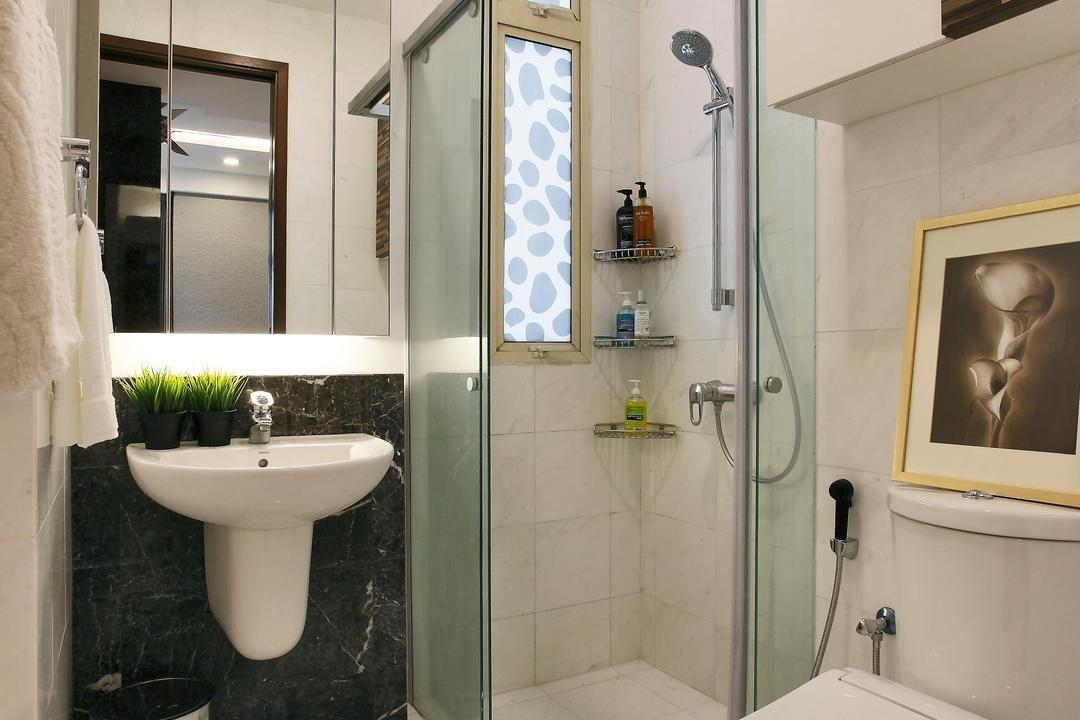 Balestier, Habitat One, Contemporary, Bathroom, Condo, Torso, Indoors, Interior Design, Room