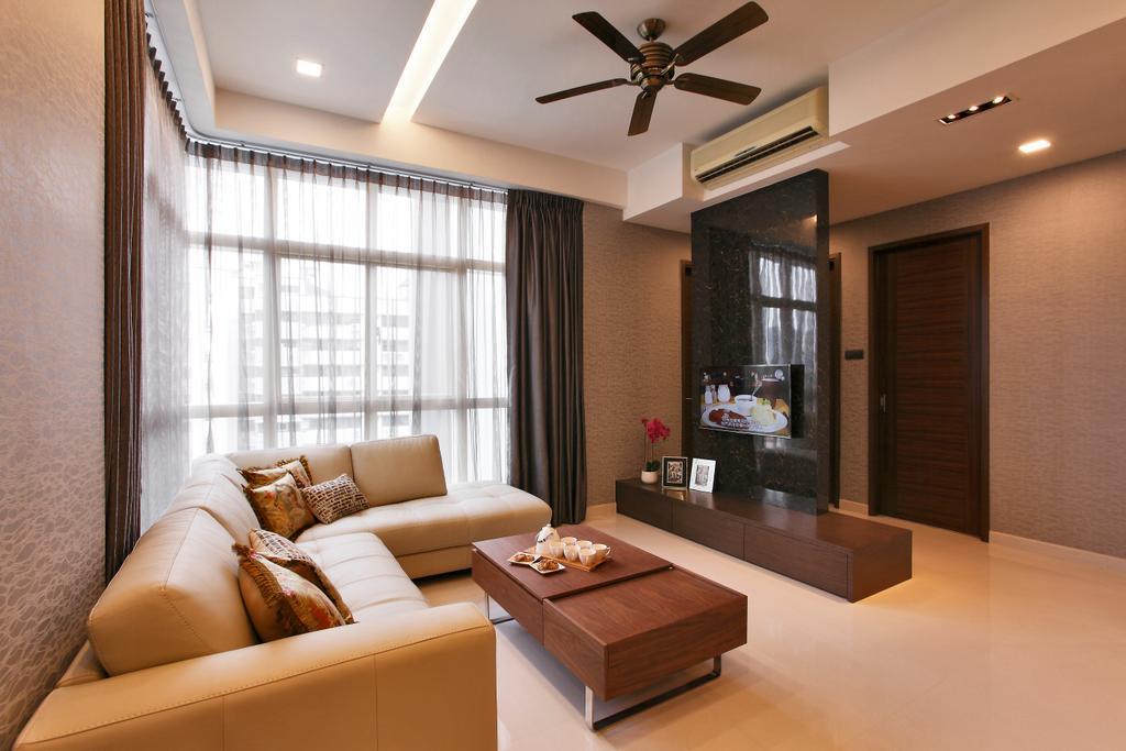 Contemporary, Condo, Living Room, Balestier, Interior Designer, Habitat One, Indoors, Interior Design, Coffee Table, Furniture, Table, Couch