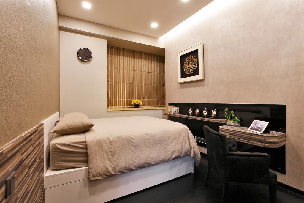 Contemporary, Condo, Bedroom, Balestier, Interior Designer, Habitat One, Couch, Furniture, Bed, Chair, Indoors, Interior Design, Room