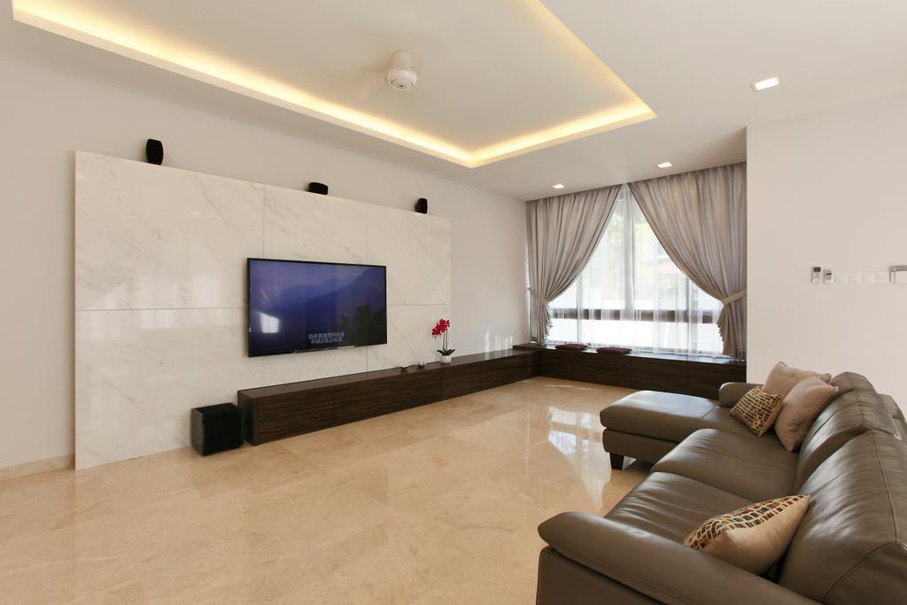 Contemporary, Landed, Living Room, Hillview, Interior Designer, Habitat One, Couch, Furniture, Indoors, Interior Design