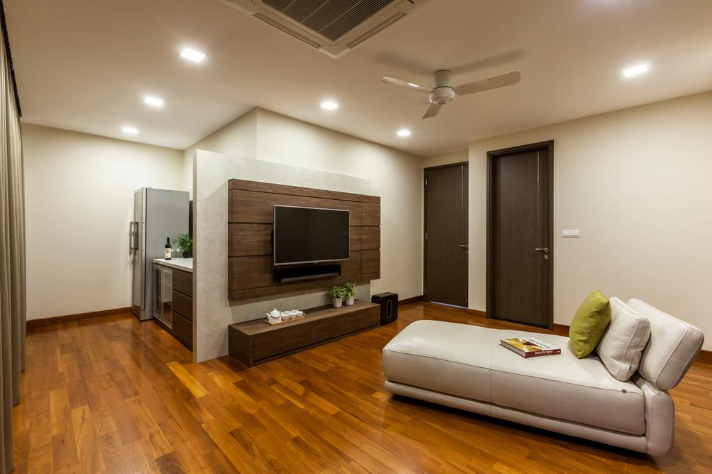 Contemporary, Landed, Living Room, Hillview Avenue, Interior Designer, Habitat One, Flooring, Indoors, Interior Design, Couch, Furniture, Electronics, Entertainment Center, Home Theater