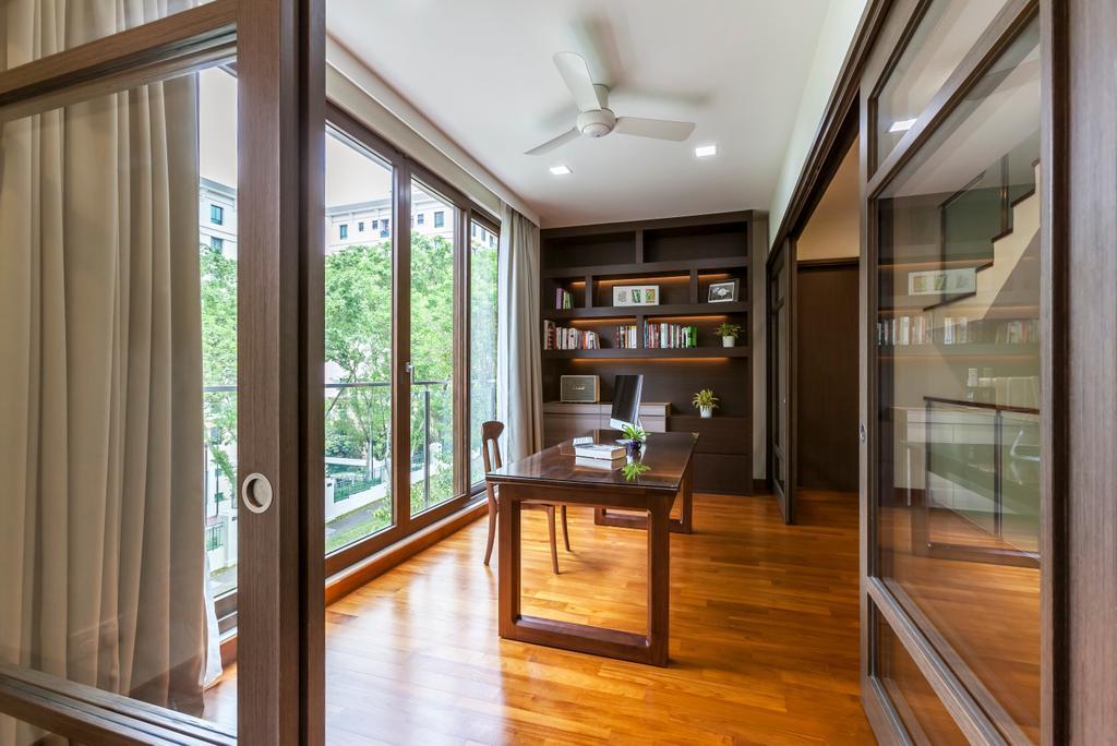 Contemporary, Landed, Study, Hillview Avenue, Interior Designer, Habitat One, Flooring, Bookcase, Furniture