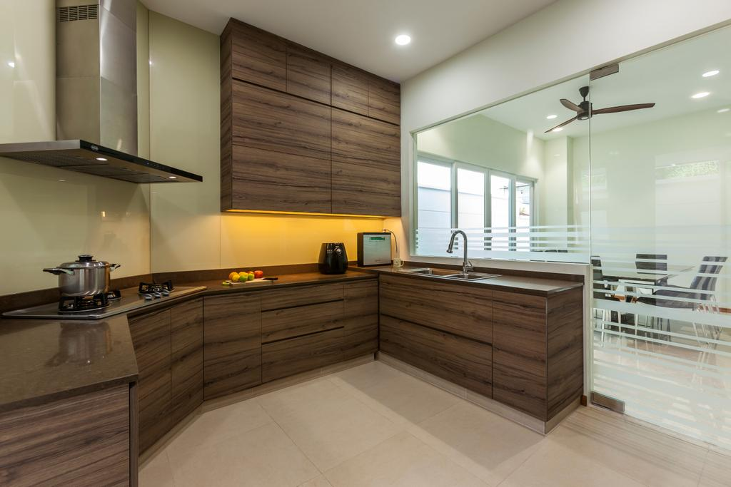 Contemporary, Landed, Kitchen, Lorong Tanggam, Interior Designer, Habitat One, Indoors, Interior Design