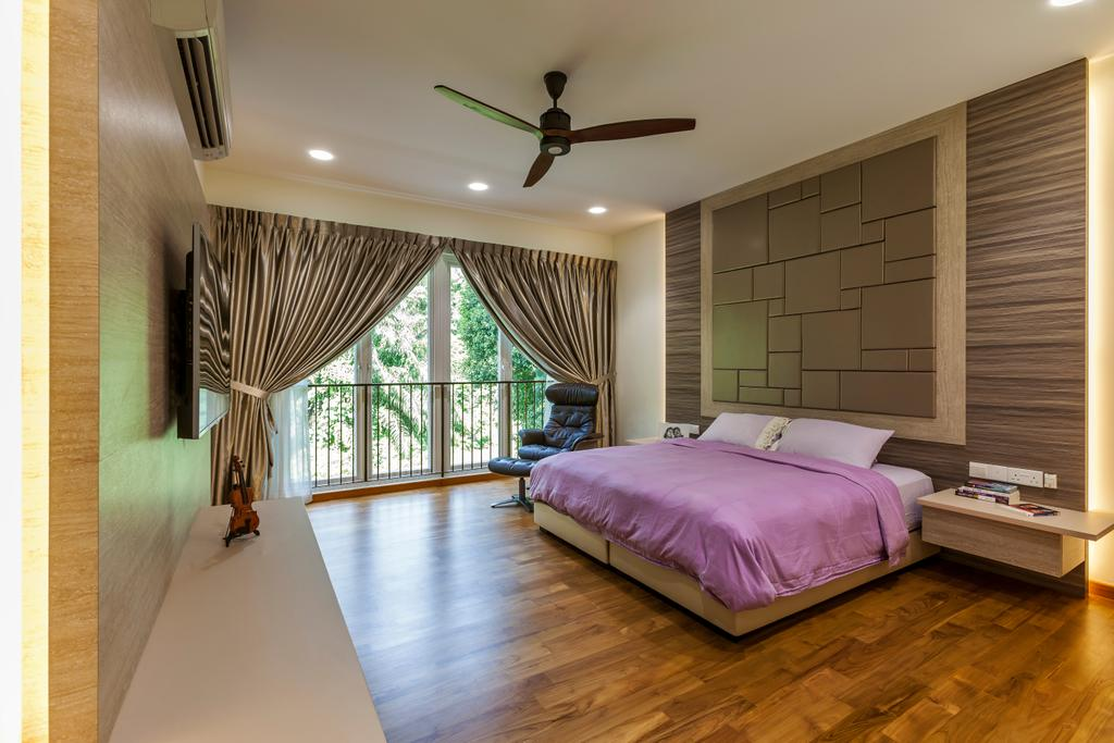 Contemporary, Landed, Bedroom, Lorong Tanggam, Interior Designer, Habitat One, Indoors, Interior Design, Room, Bed, Furniture