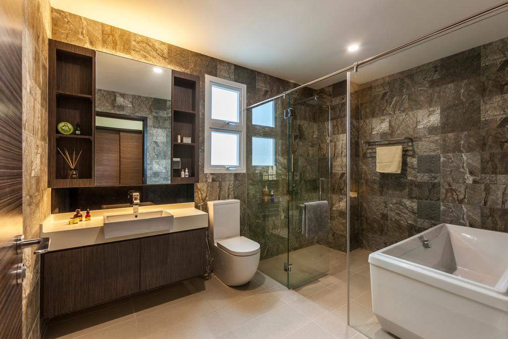 Contemporary, Landed, Bathroom, Lorong Tanggam, Interior Designer, Habitat One, Indoors, Interior Design, Room