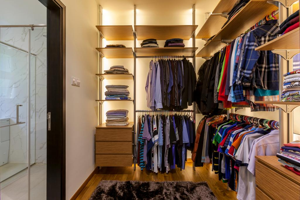 Contemporary, Landed, Bedroom, Lorong Tanggam, Interior Designer, Habitat One, Closet, Apparel, Clothing
