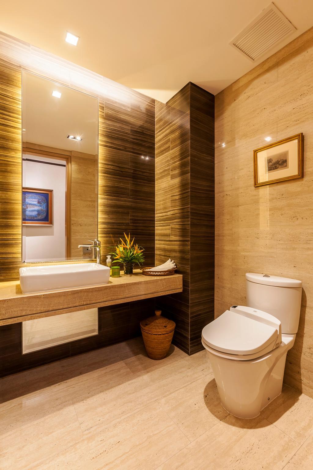Traditional, Condo, Bathroom, River Valley, Interior Designer, Habitat One, Contemporary, Toilet, Flora, Jar, Plant, Potted Plant, Pottery, Vase, Indoors, Interior Design, Molding, Art