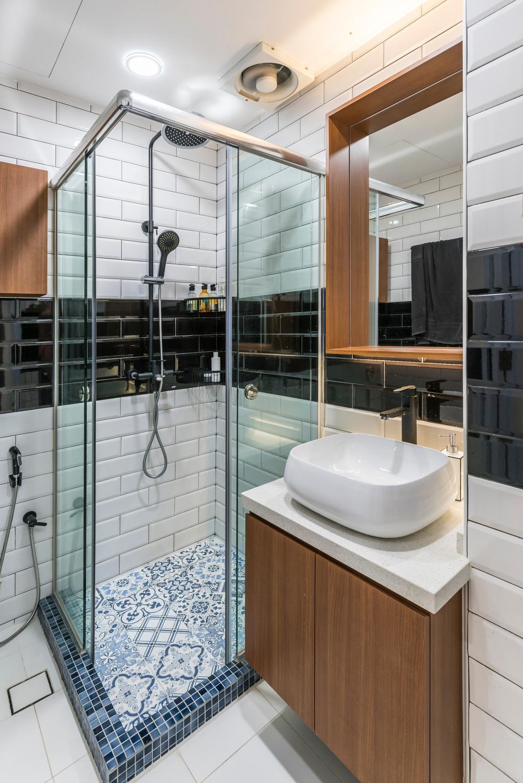 Modern, Condo, Bathroom, Sunflower Court, Interior Designer, Summit Design Studio, Indoors, Interior Design, Room