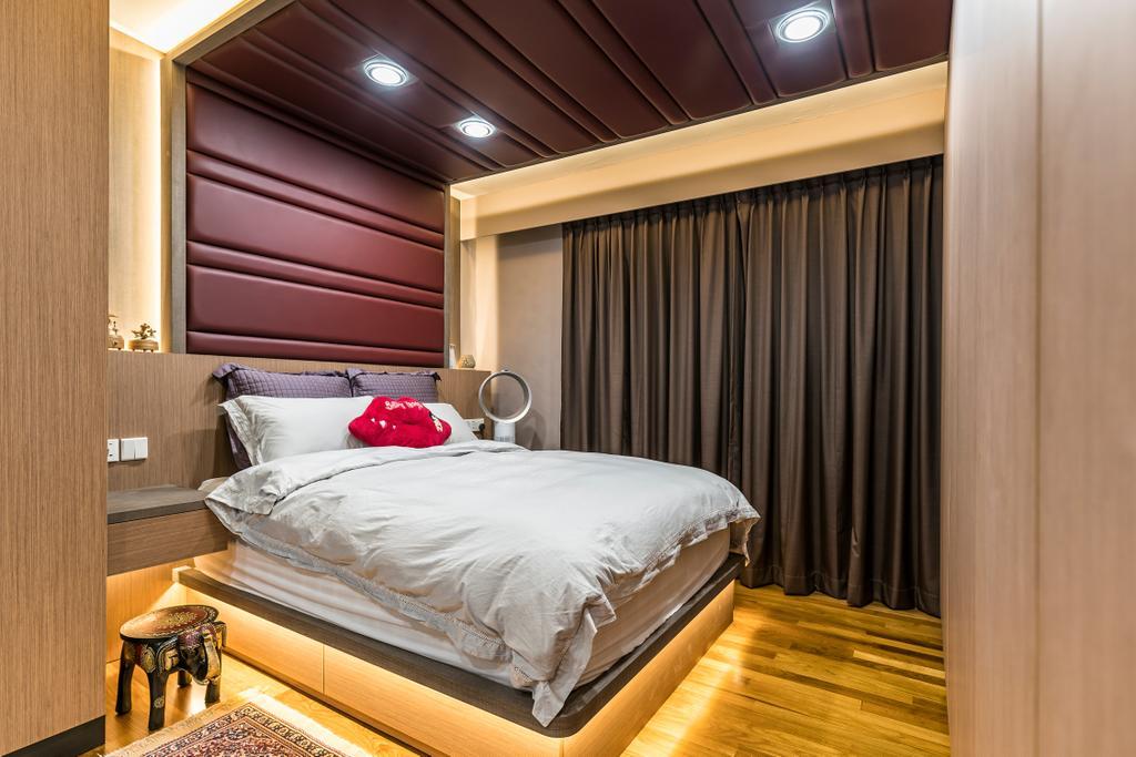 Modern, Condo, Bedroom, Sunflower Court, Interior Designer, Summit Design Studio, Bed, Furniture, Sink