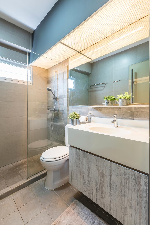 Modern, HDB, Bathroom, Yishun Avenue 1 (Block 428B), Interior Designer, Summit Design Studio, Flora, Jar, Plant, Potted Plant, Pottery, Vase, Indoors, Interior Design, Room, Planter