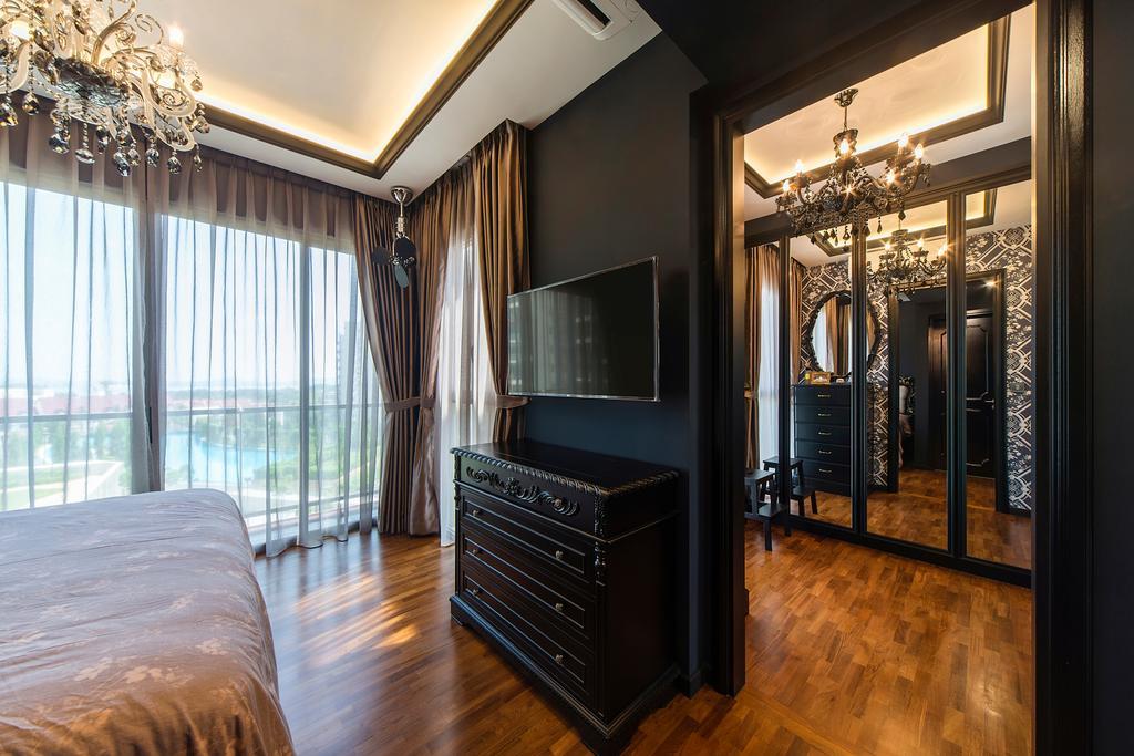 Vintage, Condo, Bedroom, Sea Horizon (Block 4), Interior Designer, Cozy Ideas Interior Design, Chandelier, Lamp, Indoors, Interior Design