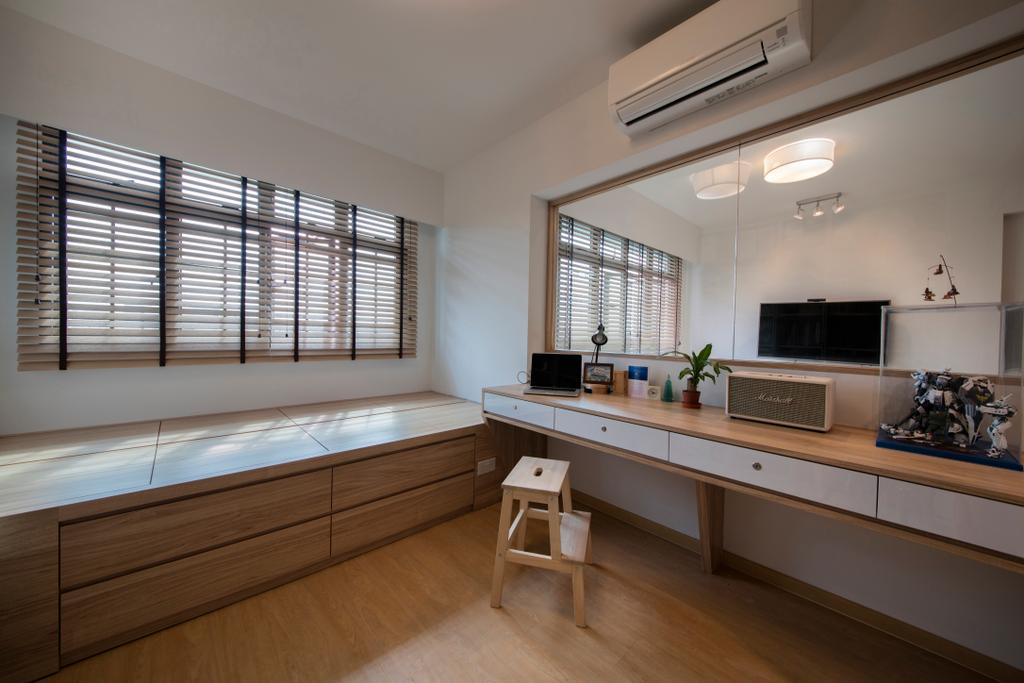 Scandinavian, HDB, Study, Jurong West (Block 697A), Interior Designer, Corazon Interior, Indoors, Interior Design, Kitchen, Room