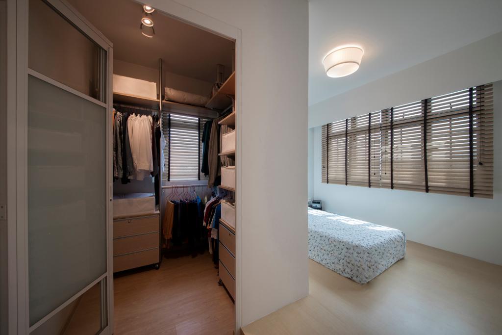 Scandinavian, HDB, Bedroom, Jurong West (Block 697A), Interior Designer, Corazon Interior, Building, Hostel, Housing, Closet, Furniture, Wardrobe