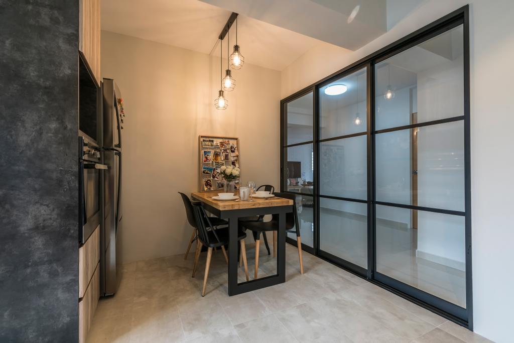 Contemporary, HDB, Dining Room, Upper Serangoon Central (Block 419), Interior Designer, Summit Design Studio, Scandinavian, Indoors, Interior Design, Room