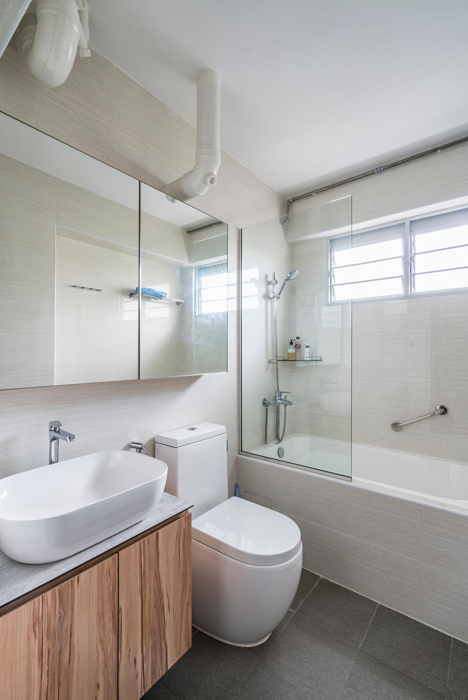 Contemporary, HDB, Bathroom, Upper Serangoon Central (Block 419), Interior Designer, Summit Design Studio, Scandinavian, Toilet, Indoors, Interior Design, Room