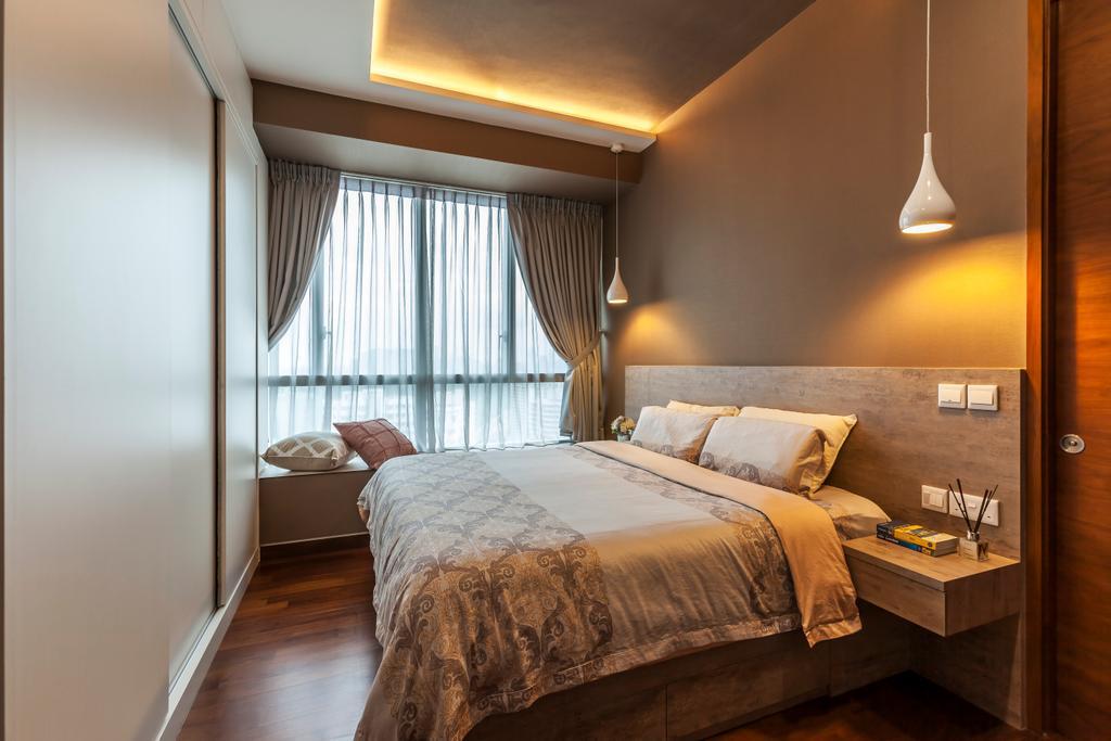 Contemporary, Condo, Bedroom, The Meyerise, Interior Designer, The Interior Lab, Curtain, Home Decor, Bed, Furniture, Indoors, Interior Design, Room