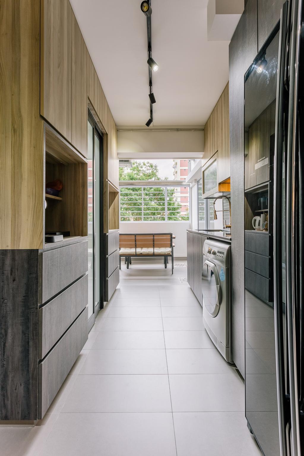 Modern, HDB, Kitchen, Bishan Street 22, Interior Designer, Liid Studio, Bench