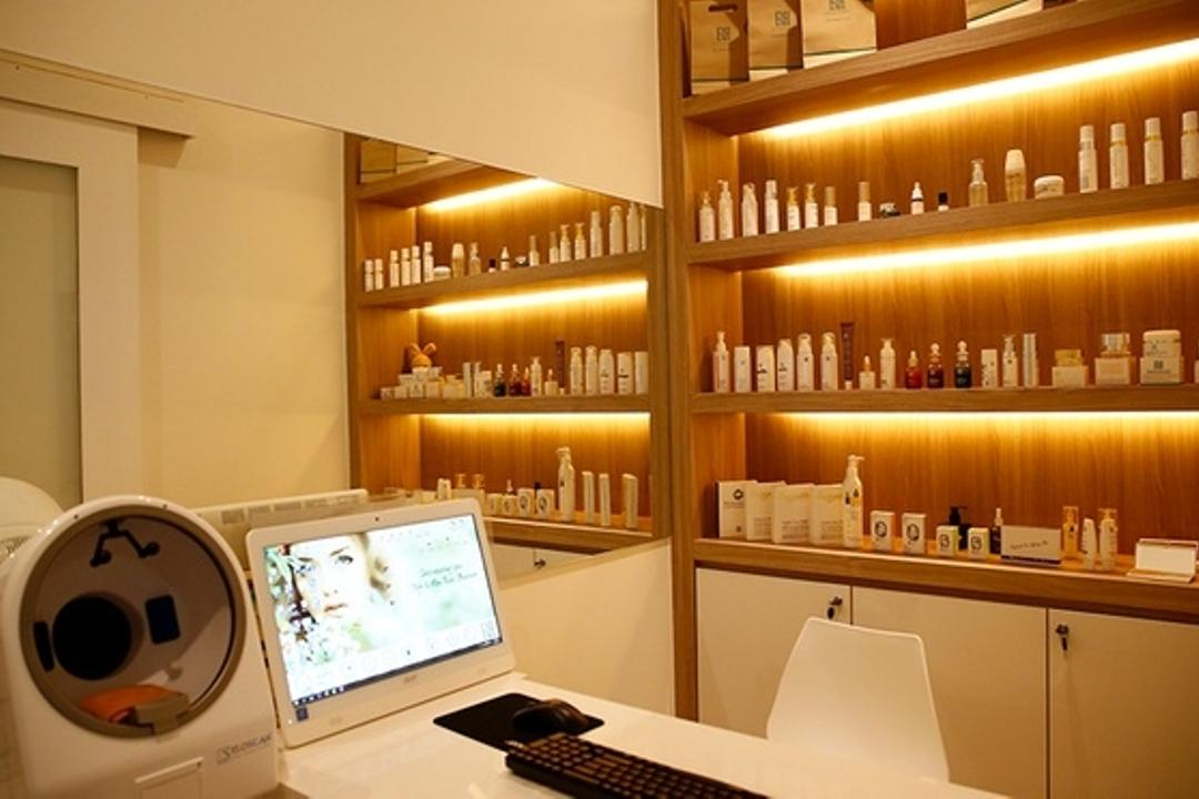 Revival Skin Lab Medical Spa, Sarawak, TOD Interior Design, Minimalistic, Modern, Commercial, Electronics, Monitor, Screen, Tv, Television, Sink