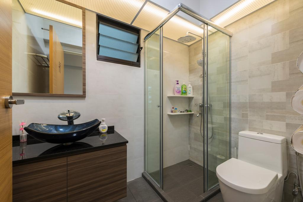 Modern, HDB, Bathroom, Compassvale Bow (Block 274A), Interior Designer, Project Guru, Indoors, Interior Design, Room, Building, Housing