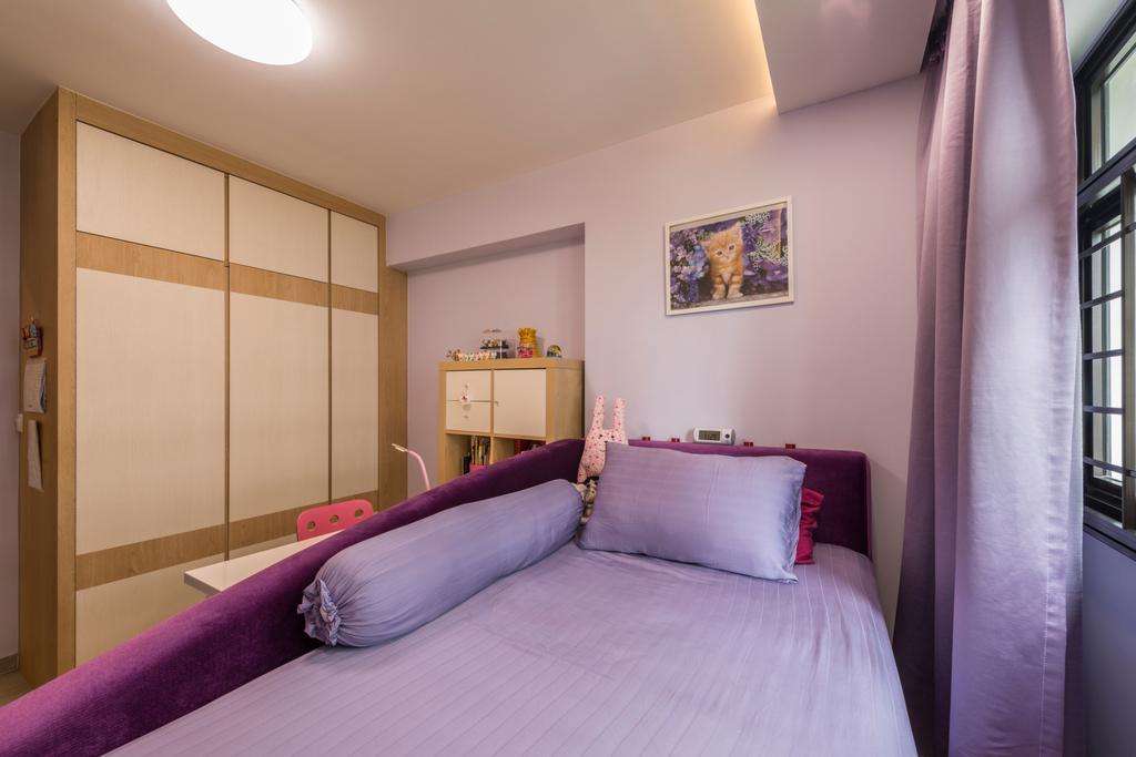 Modern, HDB, Bedroom, Compassvale Bow (Block 274A), Interior Designer, Project Guru, Indoors, Interior Design, Room, Art, Painting