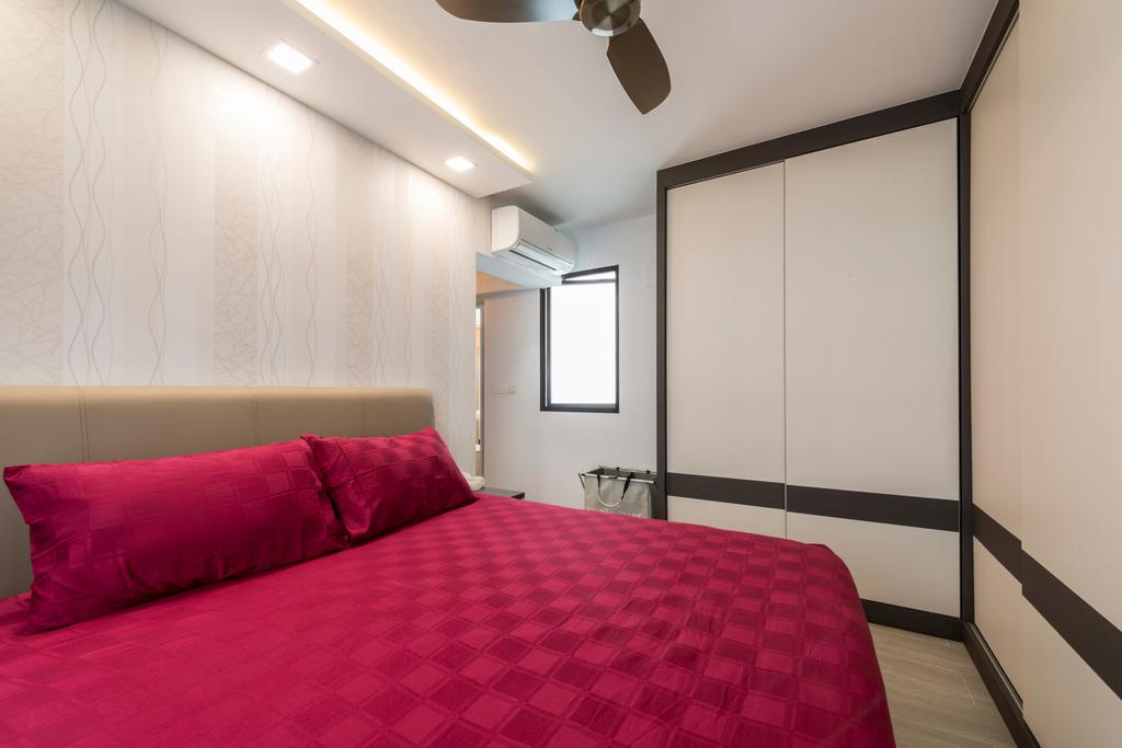 Modern, HDB, Bedroom, Compassvale Bow (Block 274A), Interior Designer, Project Guru, Indoors, Interior Design, Room